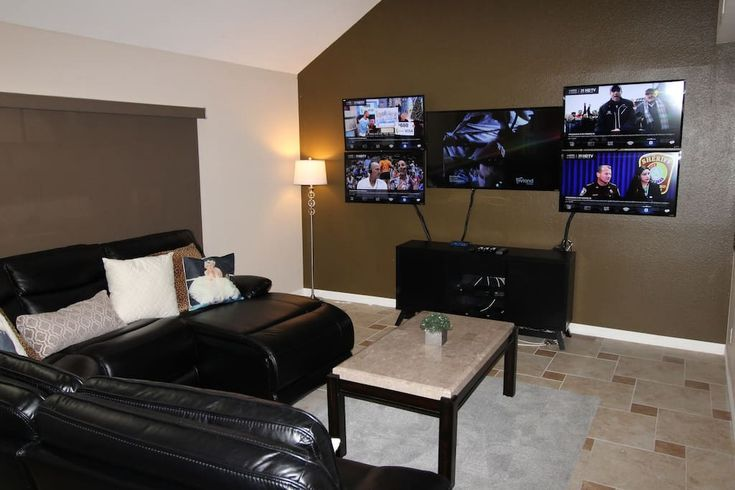 $579 per night Entire home/apt in Las Vegas, United States. Gorgeous themed 6 bedroom in the heart of Las Vegas designed for your every need! We have a gaming/sports room with 5 TVs individually programmed and hardwired for fastest internet signal. Add to that a professionally leveled pool table next to ba...