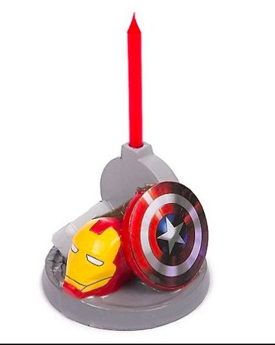 One Avengers Assemble Birthday Candle Holder with Candle