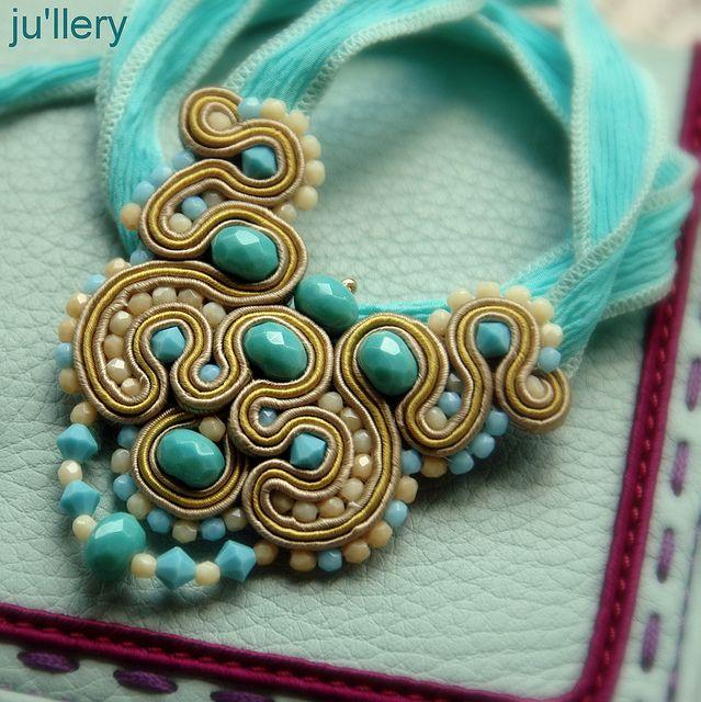 Soutache Necklace via Flickr