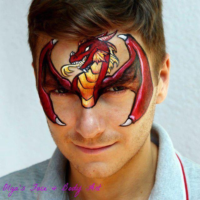 Fire dragonfacepaint from Olga's facepaint and body art