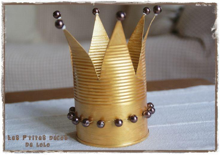 Faire une couronne avec une boîte de conserve