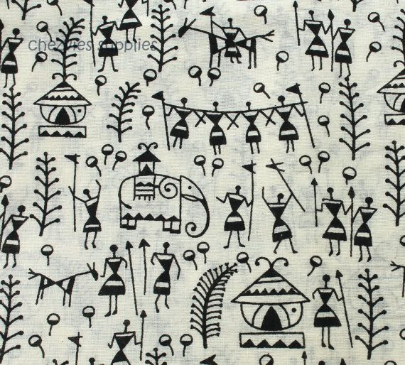 Hey, I found this really awesome Etsy listing at https://www.etsy.com/listing/189335834/fat-quarter-black-and-white-handloom