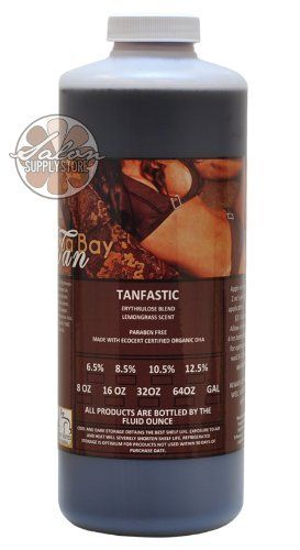 Medium Tanning 6.5% DHA Solution Airbrush Spray TAN TanFastic 32 oz Sunless by Tampa Bay Tan. $44.99. Eco-Certified DHA. Organic Aloe Barbadensis. Hyaluronic Acid. Green and White Tea. Erythrulose. Tanfastic Airbrush Spray Tanning Solution is a superior tanning product developed using the latest technology designed to promote an initial rich color and a subsequent highly natural looking sunless tan.Tanfastic Airbrush Spray Tanning Solution contains a blend of Dihydroxy...