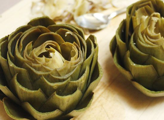 Italian Stuffed Artichokes. They're even great without the bread ...