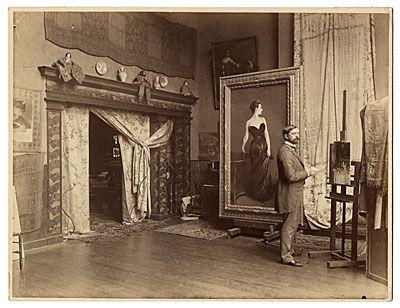 [John Singer Sargent in his studio]