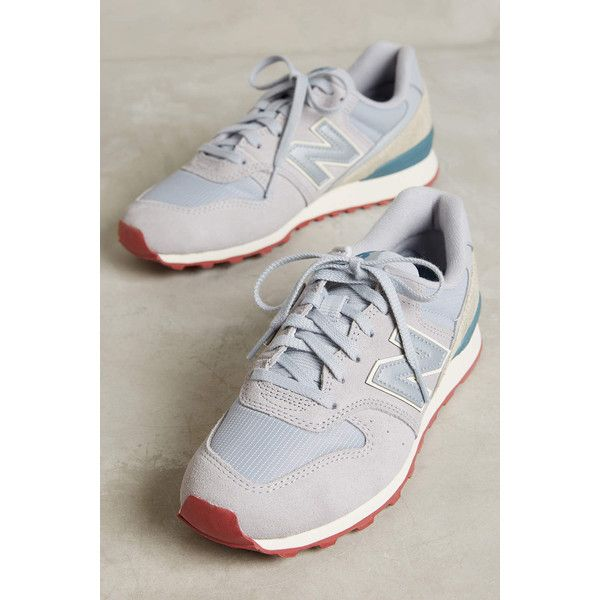New Balance 696 Sneakers ($80) ❤ liked on Polyvore featuring shoes, sneakers, grey, new balance, gray sneakers, grey sneakers, grey shoes and new balance shoes