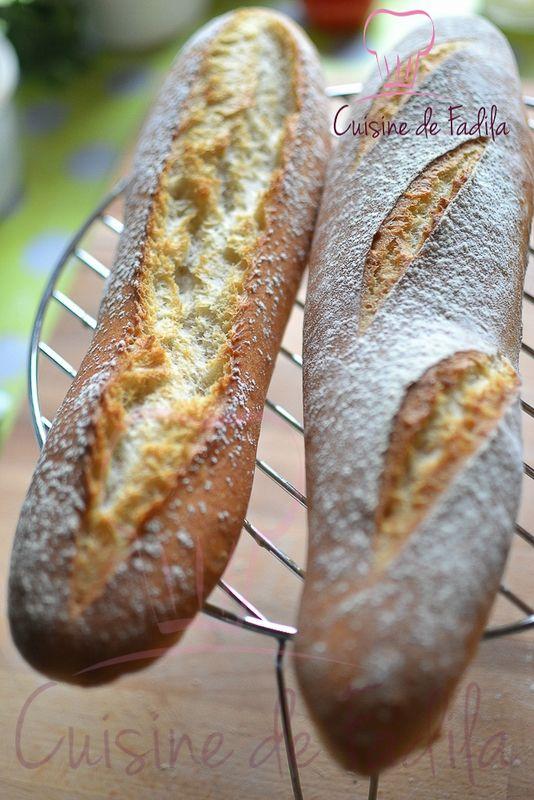 Baguette bio au levain déshydraté d'Eric kayser - cuisine de Fadila