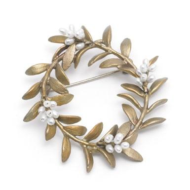 Flowering myrtle brooch, by Michael Michaud; myrtle is regarded as symbolising love. (Victoria & Albert Museum shop)