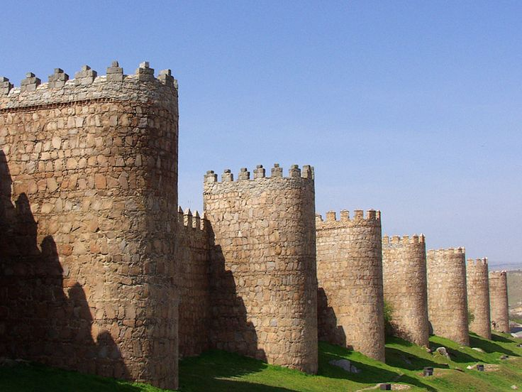 *SPAIN ~ Medieval walls of Avila, the best preserved city walls in Spain and maybe throughout Europe; added to World Heritage List by UNESCO
