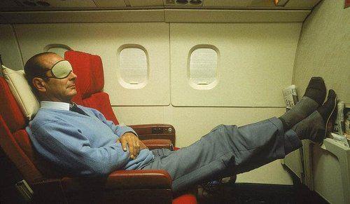 Asleep on a plane. Like a boss !