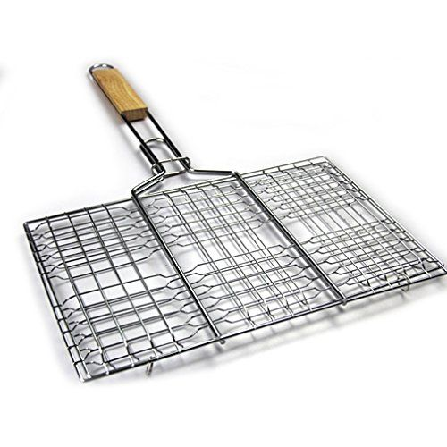 Wayer Grill Baskets, Charcoal BBQ Meshes Clamp Fish, Chicken Wing, Sausage, Vegetables Clip Barbecue Meshes Grill Tools * You can find more details by visiting the image link.