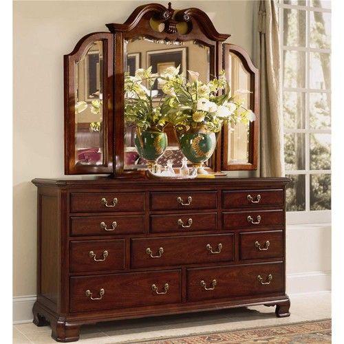 American Drew Cherry Grove 45th Triple Dresser With 11