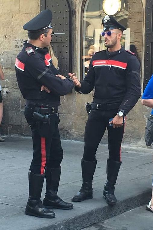 This is what Italian Police look like..For Real ! Umm can u arrest Meee