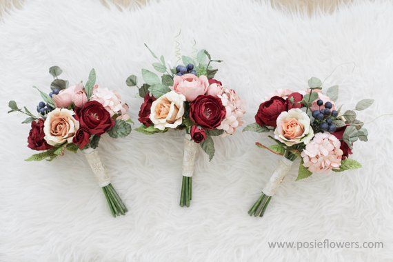 Wedding Paper Flower Set Bespoke Paper Bridesmaid Posy Flower Bouquet Diameter 7 inches