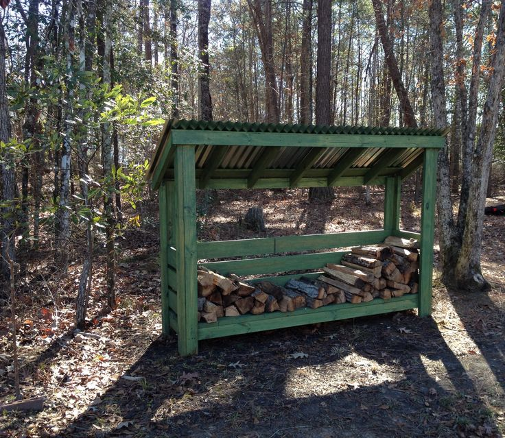 Wood Shed Stained With Cabot Semi Solid Stain Balsam Pine