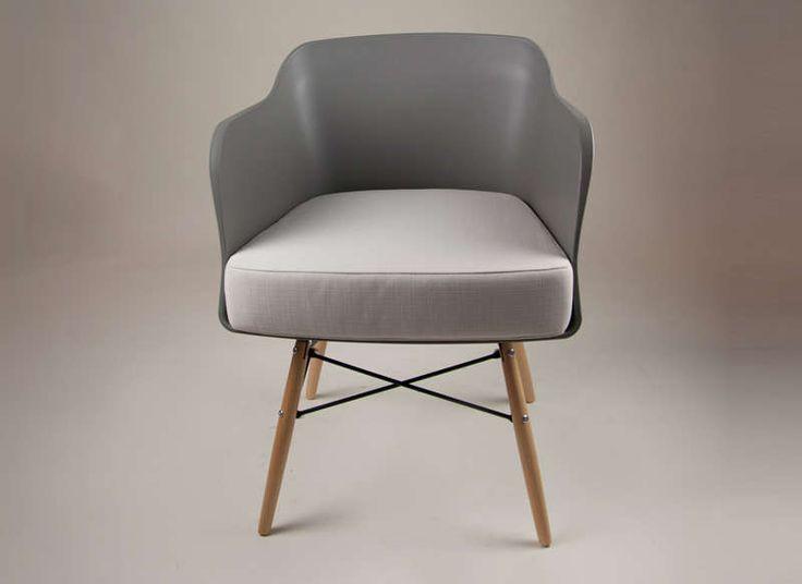 Chaise scandinave avec coussin Gris foncé ALWA