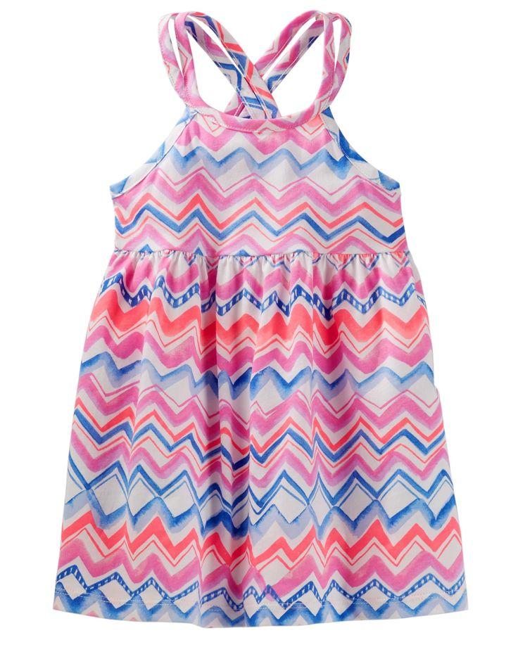 Baby Girl Chevron Cross-Back Dress   OshKosh.com