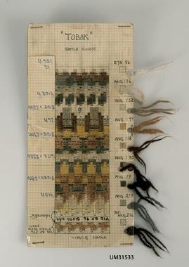 Digitalt Museum - Mönsterritning för mönstret Tobak gamla rundstickningen av Kerstin Olsson, Bohus Stickning.