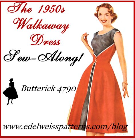 Long 50s dress tutorial