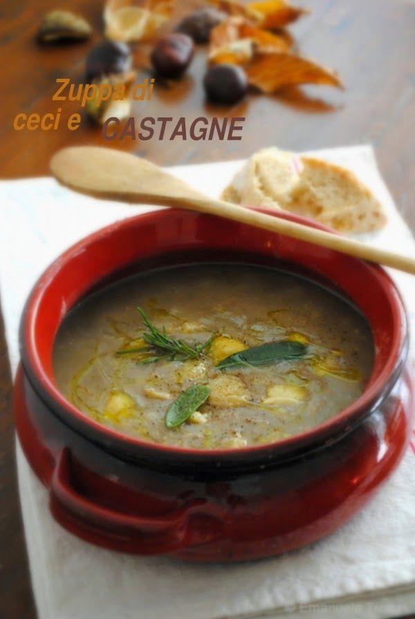 ZUPPA DI CECI E CASTAGNE (Abruzzo): a traditional soup made with chickpeas and chestnuts