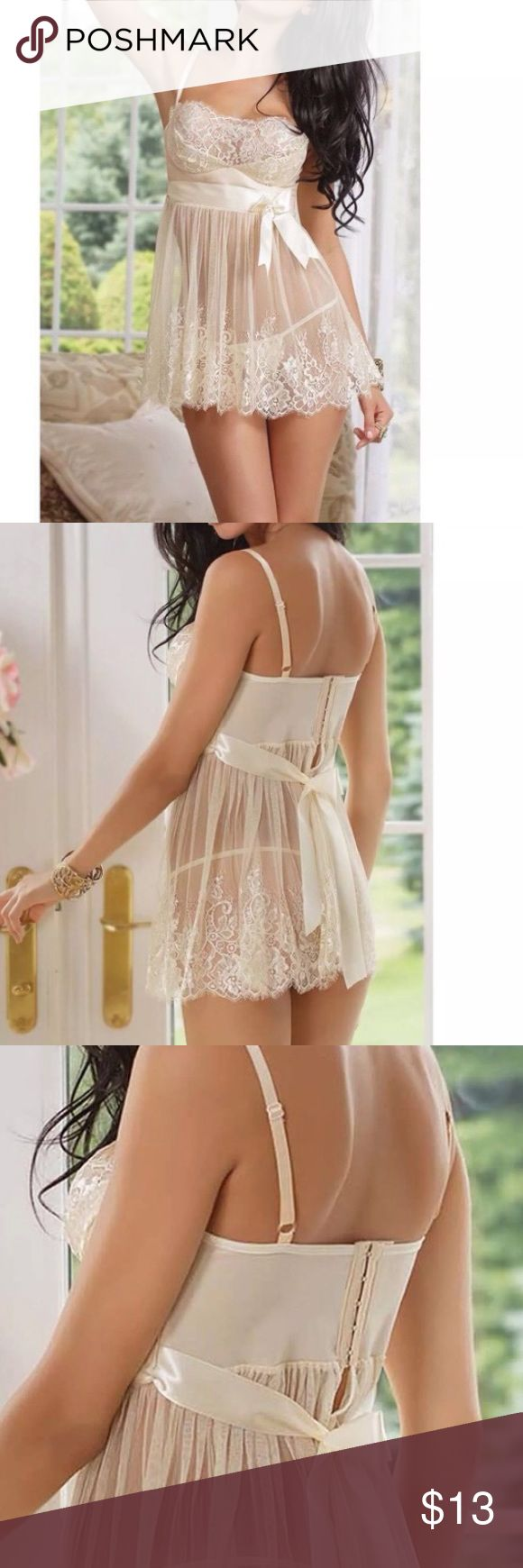 Sexy Sheer BabyDoll Lingerie Brand new fits a small Intimates & Sleepwear