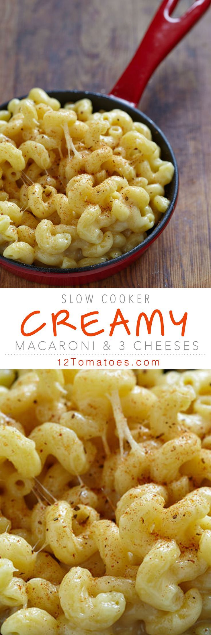 We love it, but what we don't love is having to boil the milk, mix in various cheeses and scrape the bottom of the saucepan to keep the cheese from burning…. This slow cooker recipe eliminates all of that and we added more cheese (always a good thing), so you still get a molten cheese dish without all the hassle.