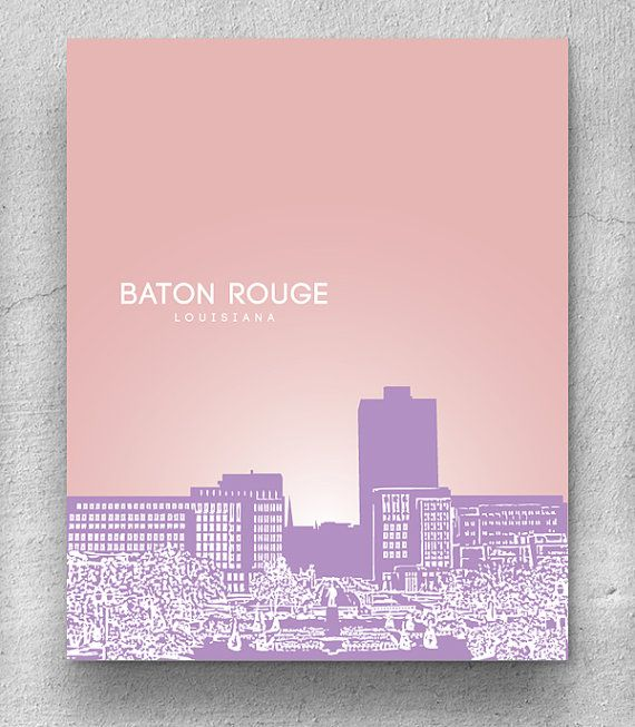 Office Decor Wall Poster / Baton Rouge by YouandYoursPrints