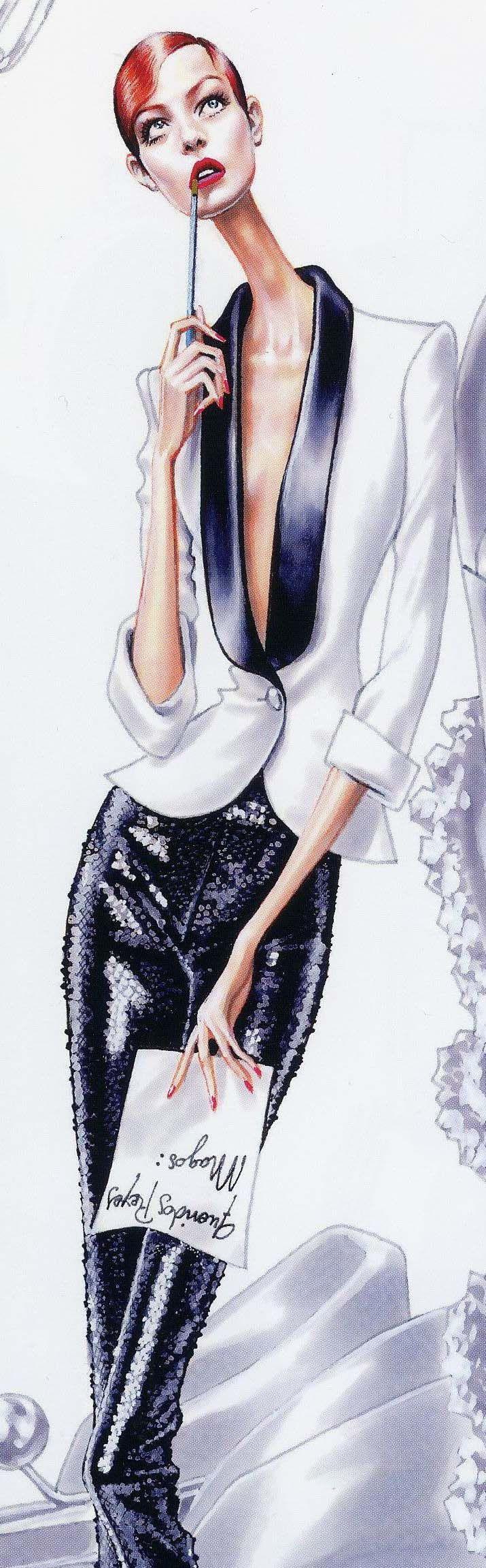 Arturo Elena: Ilustrador de las Jornadas de Blogs de Moda.                                                                                                                                                                                 Más