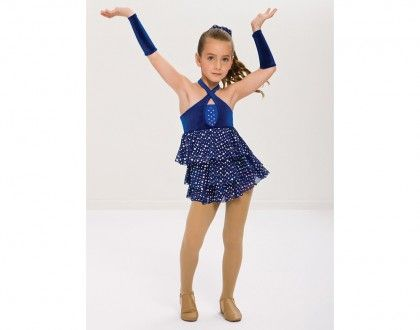 Ref RV0177 Royal Blue Spandex And Midnight Stretch Velvet Leotard Has Extended Bike Dance Recital CostumesJazz