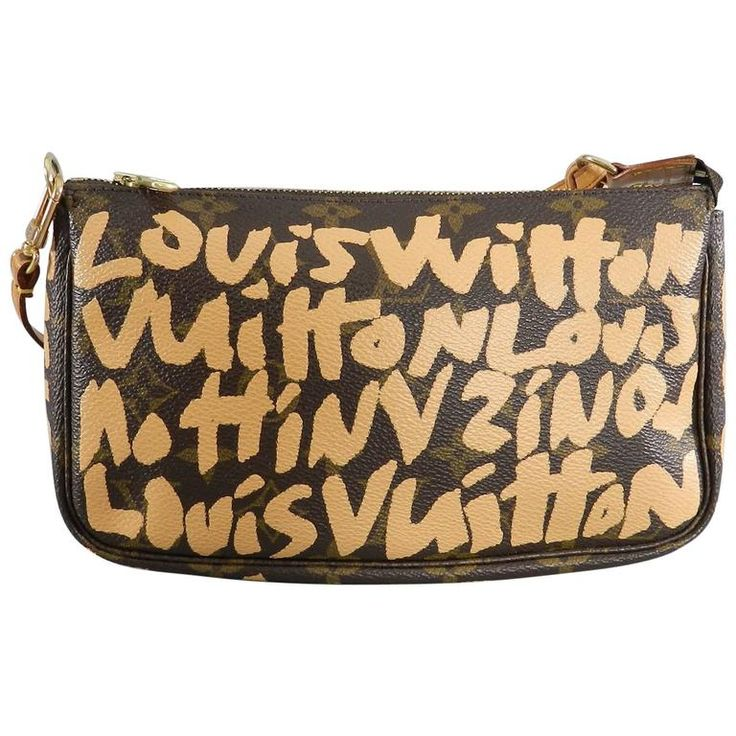 Louis Vuitton Stephen Sprouse Monogram Canvas Grafitti Pochette Bag | From a collection of rare vintage novelty bags at https://www.1stdibs.com/fashion/handbags-purses-bags/novelty-bags/