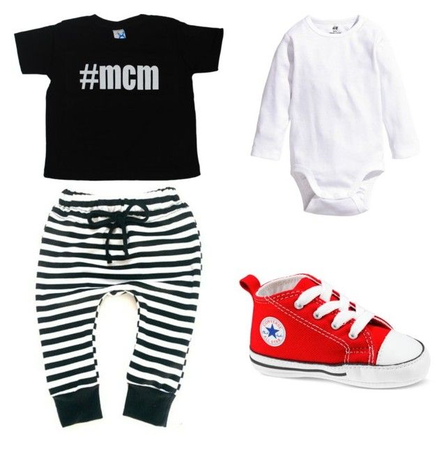 """#MCM T Shirt"" by babiesswardrobe ❤ liked on Polyvore featuring MCM and H&M"