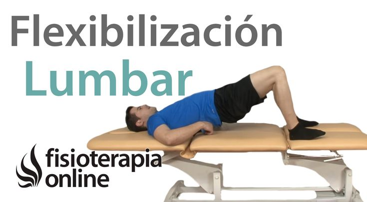 Dolor de espalda. Ejercicio para la flexibilización lumbar (Indicado para lumbago o lumbalgia) - YouTube