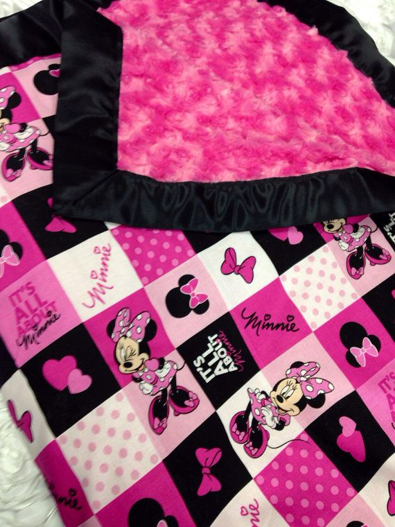 Minnie+Mouse+Blanket+by+RedDIrtBabies+on+Etsy,+$74.95