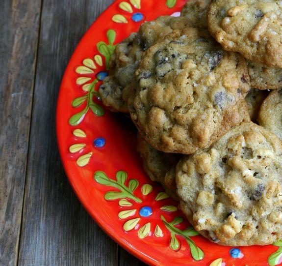 Dark Chocolate Sea Salt Kashi Cereal Cookies cookie plate (Noble Pig)