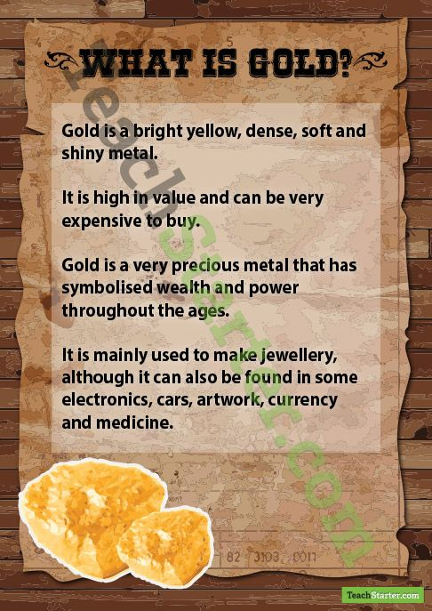 What is Gold Poster Teaching Resource