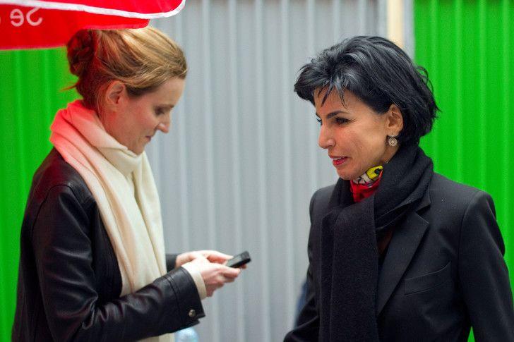 Nathalie Kosciusko-Morizet et Rachida Dati en février 2012, pendant la campagne présidentielle.