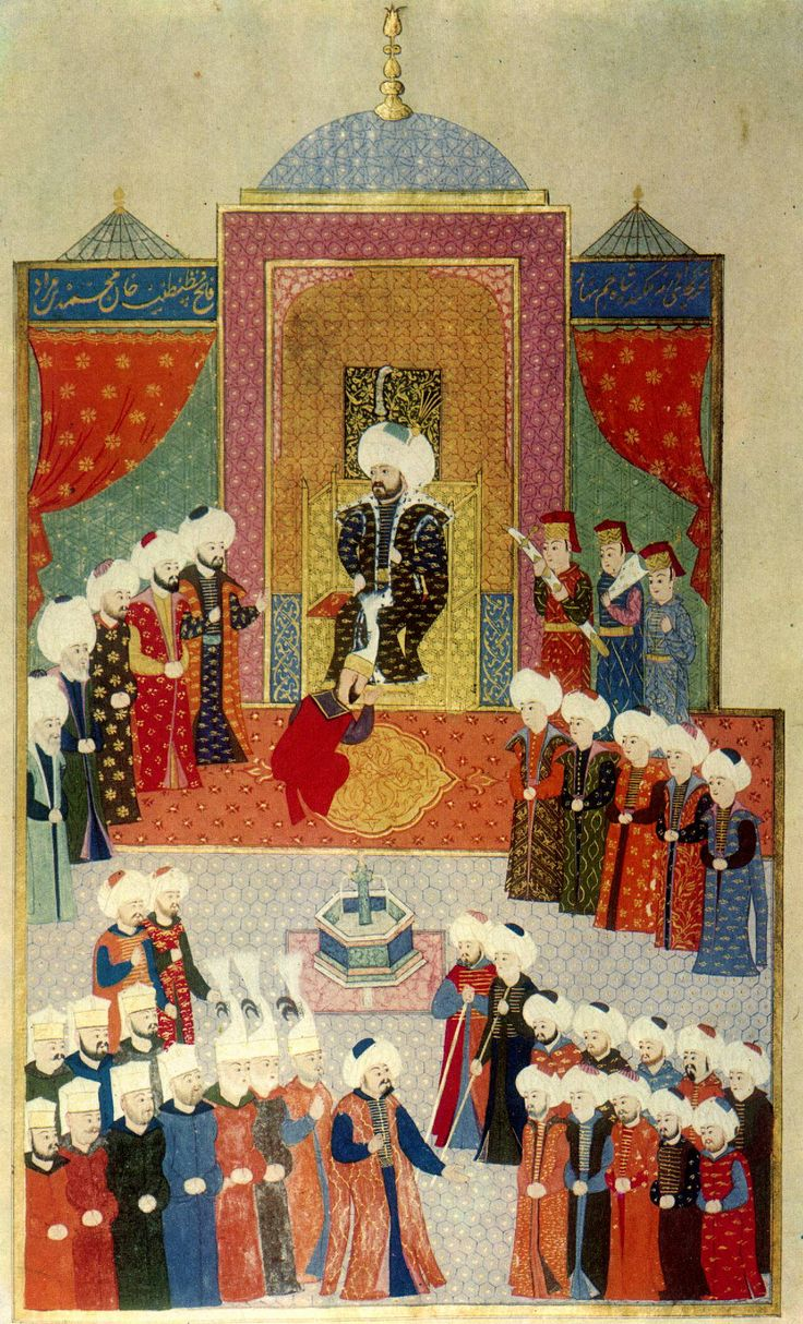 Manuscript of hunername accession of Mehmed the Conqueror in Edirne, Ottoman…