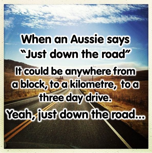 Yep its just down the road. Not far for us Aussies. Give us a like if you've heard this one before smile emoticon Maybe you have a story to tell!