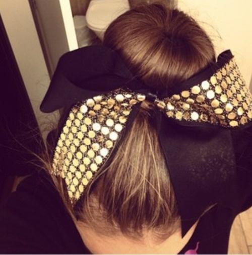 cheer, bun, bow, up, dance, cheerleading, competition hair, sock bun, bombshell, beauty, bombshell beauty, sparkle