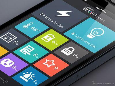 Home Automation Flat App Design