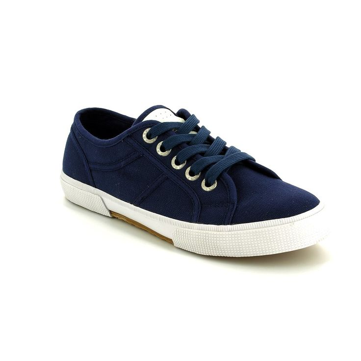 Get your ladies marco tozzi sneakers online now at Begg Shoes and Bags. Navy lace up sneakers: www.beggshoes.com  #marcotozzi #tozzi #sneakers #trainers