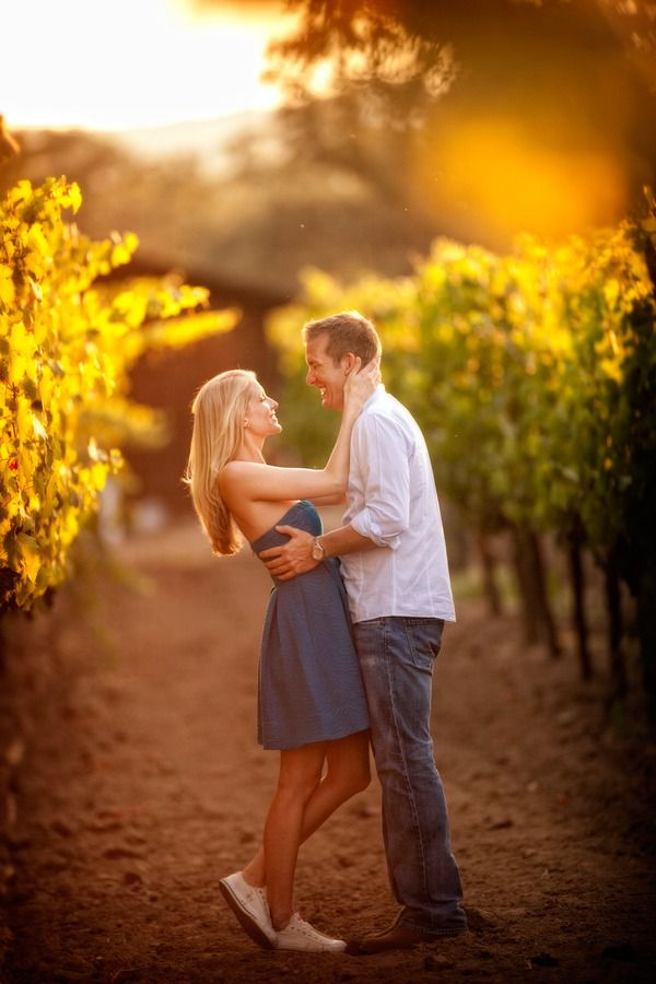 """such a cute engagement picture idea.. finallyyy someone can stray away from the oh-so-typical """"fake cowboy boots & sundress in the middle of a field."""""""