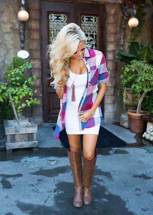 Top, Plaid Top, Mutlicolor Top, 3/4 Sleeve top, Cute, Fashion, Online Boutique