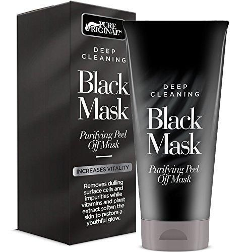 Pure Original Deep Cleaning Purifying Black Mask - For Blackheads Acne And A Deep Facial Cleansing Exfoliator