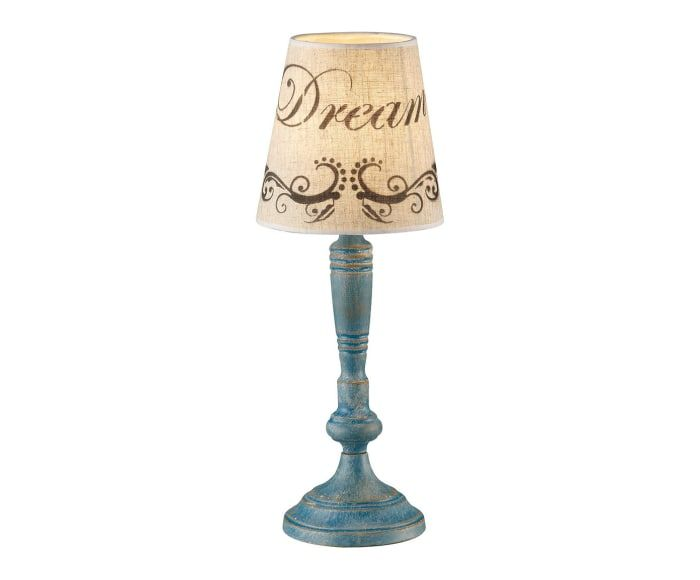Lampada da tavolo in metallo Anna turchese