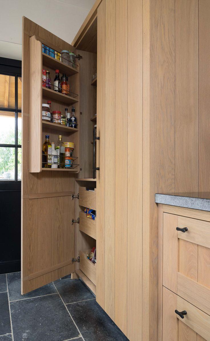 Keuken Opbergkast : over Tijdloze Keuken op Pinterest – Keuken Kasten, Keukens en Kasten