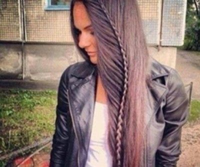 A pretty cool braid idea for those with long hair. We'd throw on some fem drop earrings to balance the edge