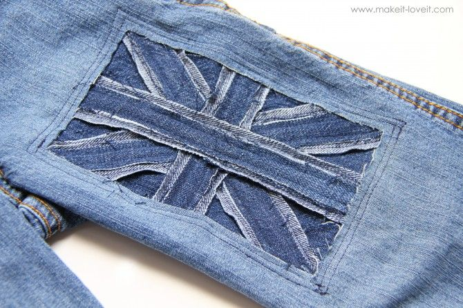 I think this would be a great fix for jeans that already have a hole in the knee - just make it bigger and fill it in.  :)
