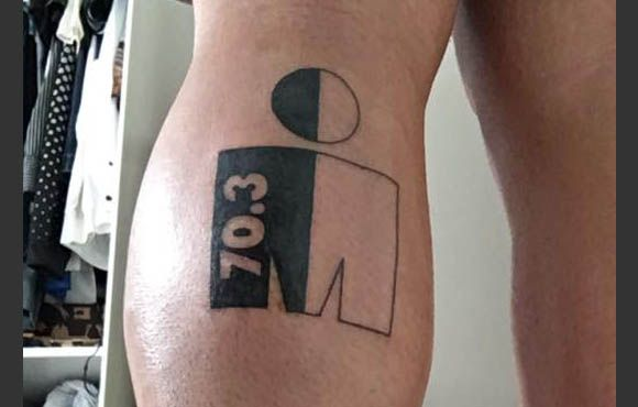 The IRONMAN logo has become a badge of honor for IRONMAN finishers across the globe. Whether it's the small M-Dot on the calf or part of a larger piece on your shoulder, there's no better way to solidify your superhuman status than with some ink.
