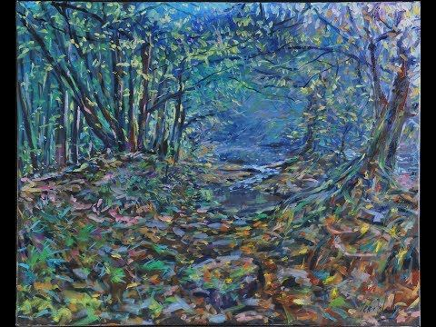 (1979) Colours of Autumn autumn.  Painting with oils in the Creuse - France - YouTube